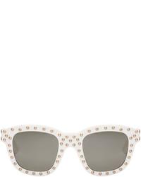 Saint Laurent White Sl 100 Lou Surf Sunglasses