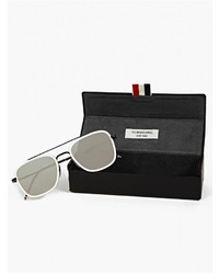 6f5c462069d6 ... Thom Browne White Tb 800 D Silver Lens Sunglasses ...