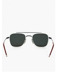 6c1950d8538f ... Thom Browne White Tb 800 D Silver Lens Sunglasses