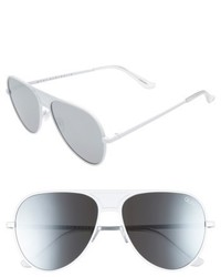Xkylie iconic 60mm aviator sunglasses black silver medium 4913500
