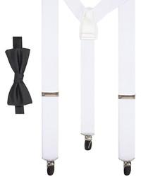 Apt. 9 Pre Tied Bow Tie Suspenders Set