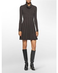 af50bc13c5 ... Calvin Klein Pleated Cowl Neck Sweater Dress