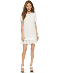 Clu Short Sleeve Sweatshirt Dress With Ruffle