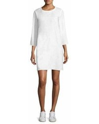 Eileen Fisher Keyhole Linen Sweater Dress