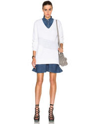 Kenzo Wool Blend Rib Honeycomb Stitch Sweater Dress