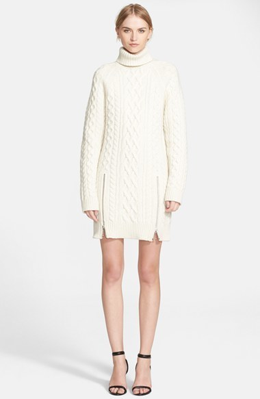 Alexander Wang Zip Turtleneck Sweater Dress | Where to buy & how ...