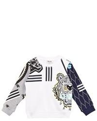 Kenzo Kids White Logo Print Sweatshirt
