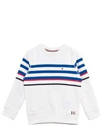Tommy Hilfiger White Stripe Sweatshirt