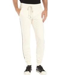 Moncler Ivory Stretch Cotton Knit Sweat Pants