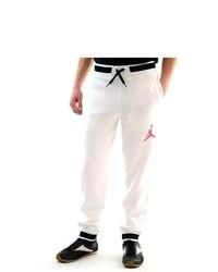 Jordan S Track And Field Sport Orangewhite Sweat Pants 547696 100 Sz L