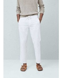 Mango Outlet Linen Blend Jogging Trousers
