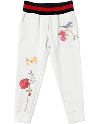 MonnaLisa Floral Printed Cotton Sweatpants