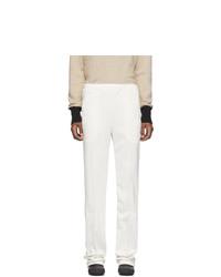 Random Identities Off White Dressy Track Pants