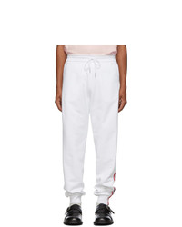 Thom Browne White Classic Rwb Stripe Lounge Pants