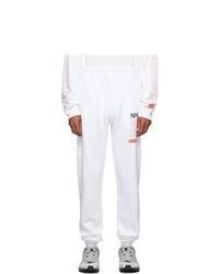 Heron Preston White Fleece Lounge Pants