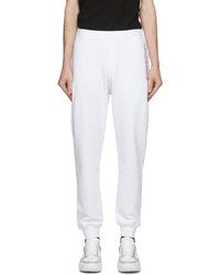 Alexander McQueen White French Terry Logo Lounge Pants