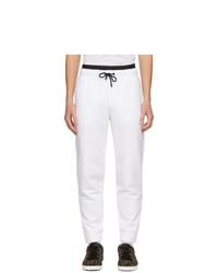 Fendi White Logo Waistband Lounge Pants