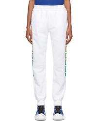 Versace White Multicolor Greca Lounge Pants