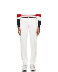 Moncler White Retro Lounge Pants