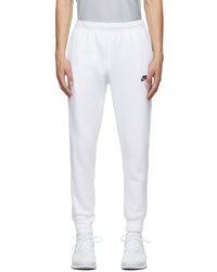 Nike White Sportswear Club Lounge Pants