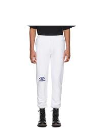 Vetements White Umbro Edition Logo Lounge Pants