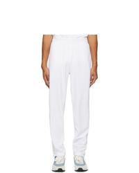 Nike White Velour Court Tennis Lounge Pants