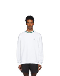 Acne Studios Acne S White Folsom Face Sweatshirt