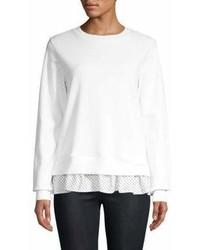 Clu Asymmetric Polka Dot Sweatshirt