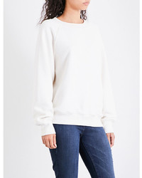 Good American Boxy Fit Cotton Jersey Sweatshirt