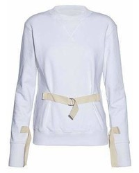J.W.Anderson Buckled Cotton Terry Sweatshirt