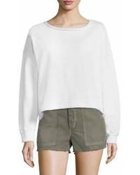 Amo Frayed Hem Boxy Sweatshirt