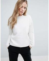 Maison Scotch High Neck Textured Sweatshirt