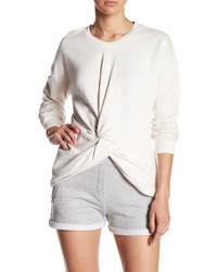 Sincerely Jules Knot Front Cotton Sweatshirt