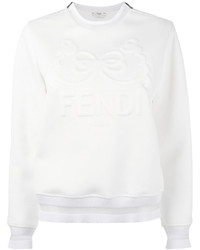 Fendi Long Sleeved Embossed Sweatshirt