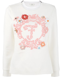 Fendi Long Sleeved Embroidered Sweatshirt
