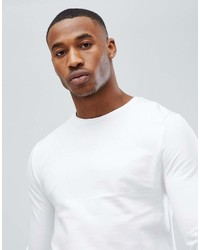 Asos Muscle Sweatshirt In White