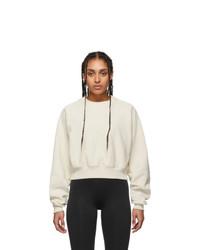 Reebok By Victoria Beckham Off White Cropped Sweatshirt