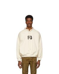 Fear Of God Off White Fg Mock Neck Sweatshirt