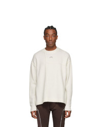 A-Cold-Wall* Off White Panelled Seam Sweatshirt