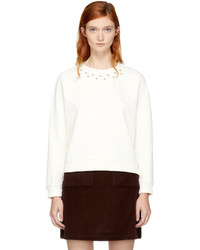 Carven Off White Studs Sweatshirt