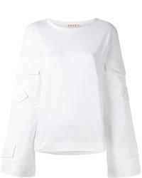 Marni Oversized Pocket Sleeve Sweatshirt