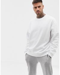 ASOS DESIGN Oversized Sweatshirt In White