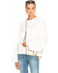 R 13 R13 Pleated Sleeve Sweatshirt