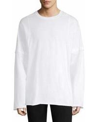 Helmut Lang Rib Knit Cotton Sweatshirt