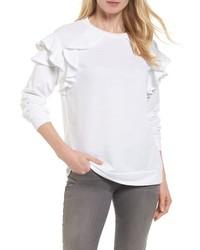 Halogen Ruffle Sweatshirt