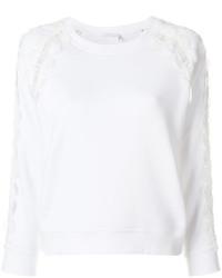 Chloé Scalloped Lace Insert Sweatshirt