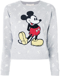 Marc Jacobs Shrunken Eyelet Sequin Mickey Sweatshirt