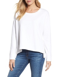 Caslon Side Slit Relaxed Sweatshirt