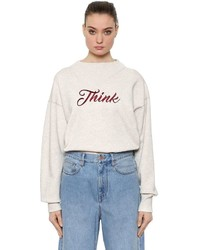 Etoile Isabel Marant Think Embroidery Cotton Blend Sweatshirt