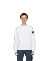 Stone Island White Cotton Classic Sweatshirt